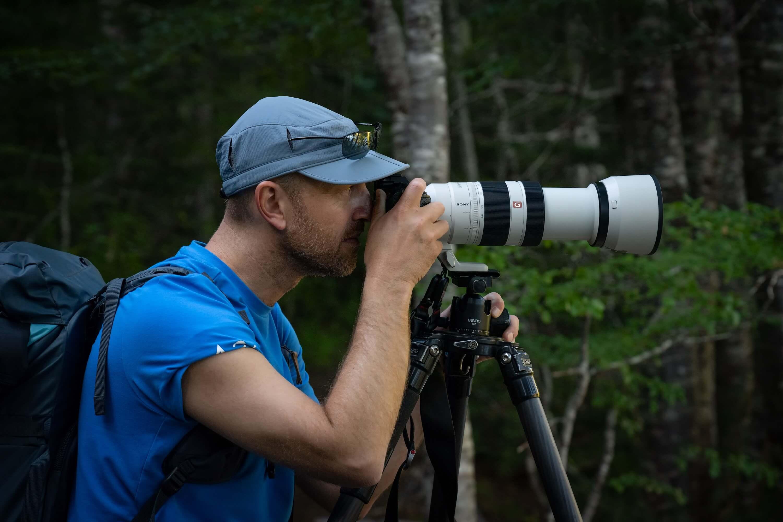 Equipo fotográfico para fotografía de naturaleza por Jean Paul de la Harpe