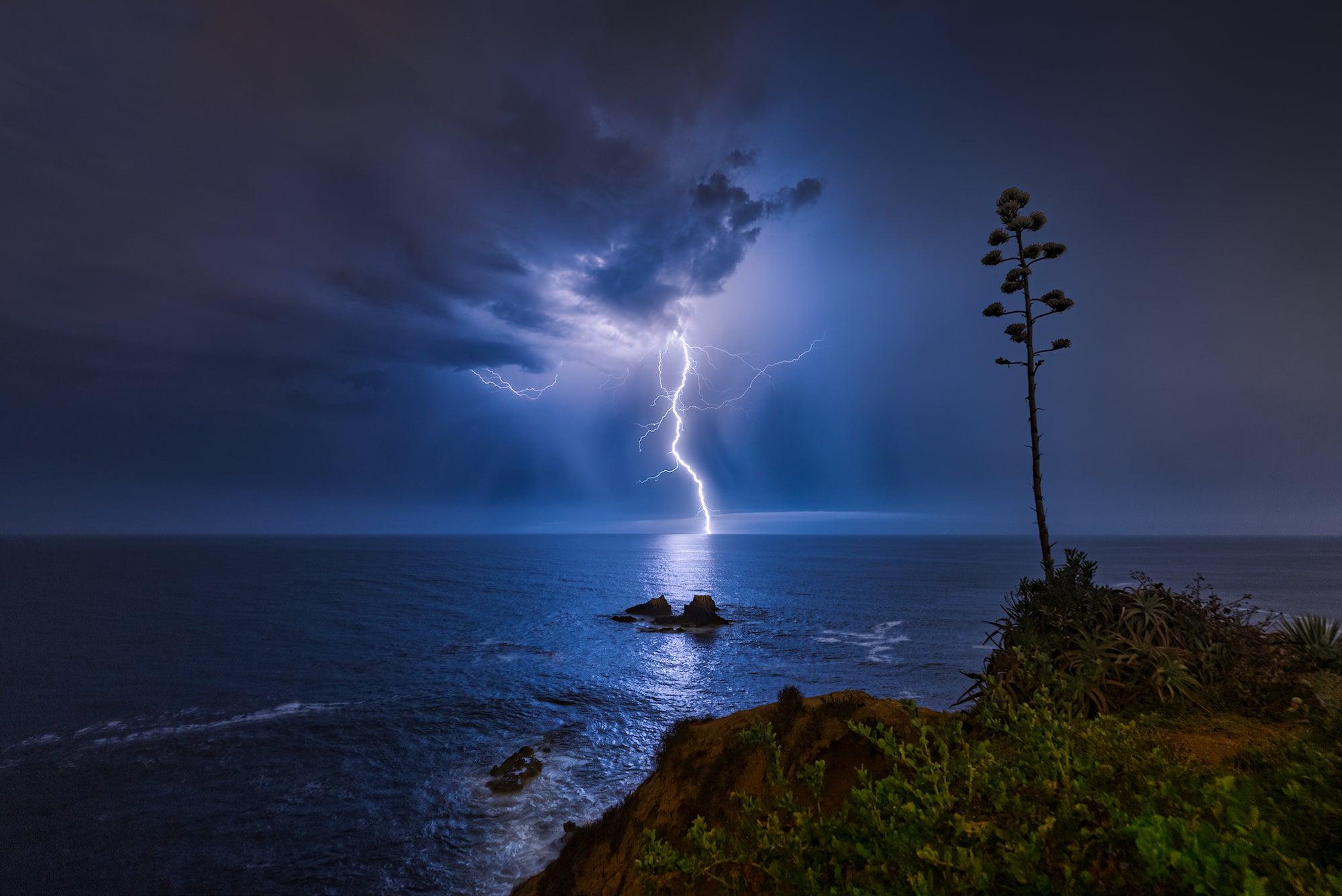 Cómo se capturó este electrizante relámpago en Laguna Beach